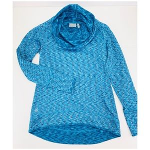 Athleta Tranquillity Cowl Neck Space Dye Pullover